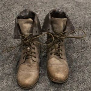 Elephant Gray Steve Madden combat boots